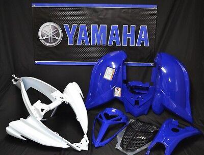 Raptor 700 plastics GENUINE YAMAHA fenders COMPLETE set 2006-2020 WHITE & BLUE