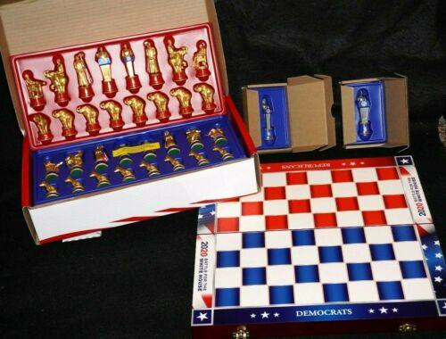 BulbHead 2020 Battle For The White House Chess Set  BIDEN + HARRIS + STORAGE BOX