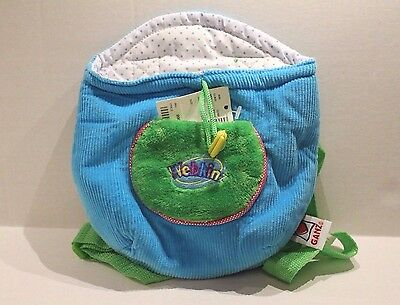 Webkinz Plush Pet Carrier Turquoise Blue Knapsack HC102 New with Code!