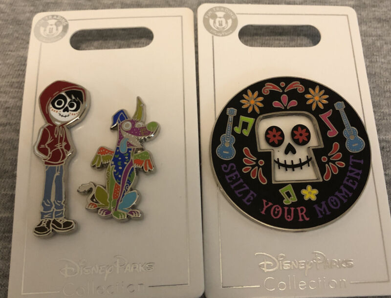 Disney Parks Coco Miguel Dontae Sugar Scull Seize Your Moment 3 pins