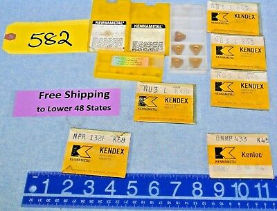 Lot Of Carbide Inserts Kennametal Nb3 Nu3 Dnmp433 Npr132f Bm412