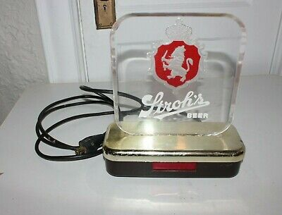 Vintage Strohs Beer Sign From One Beer Lover to Another Advertising Bar S30