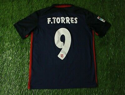 ATLETICO MADRID # 9 F. TORRES 2015/2016 FOOTBALL SHIRT JERSEY AWAY NIKE ORIGINAL image