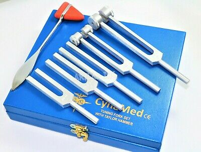 Premium 6 Tuning Fork Set Medical Chiropractic Physical Diagnostic Instruments