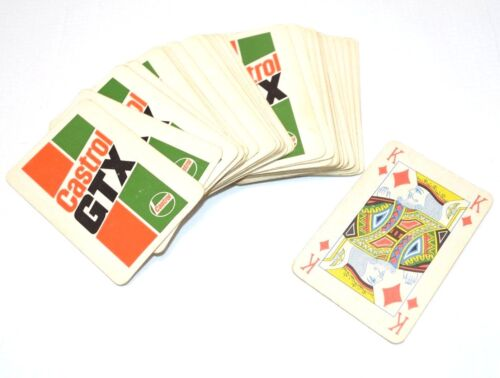 Vintage Castrol GTX Playing Cards Deck 1980s Motor Oil Jaguar Car England sign