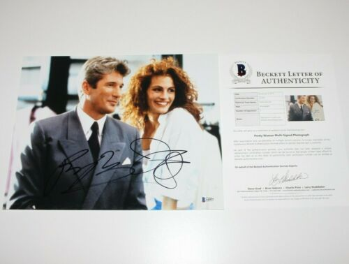 RICHARD GERE JULIA ROBERTS SIGNED 'PRETTY WOMAN' 11x14 PHOTO BECKETT COA PROOF