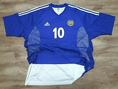 Finland Soccer Jersey Football Shirt #10 2002 XL 100% Authentic Player Issue image