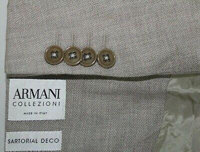ARMANI COLLEZIONI Made in Italy 40R Cotton & Cashmere SARTORIAL DECO Blazer