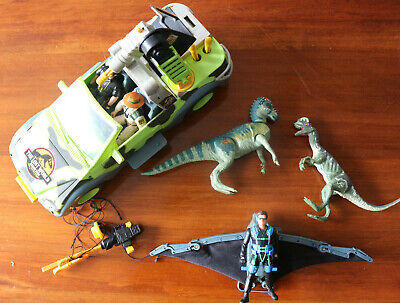 Jurassic Park The Lost World Ground Tracker Jeep & Glider with Figures