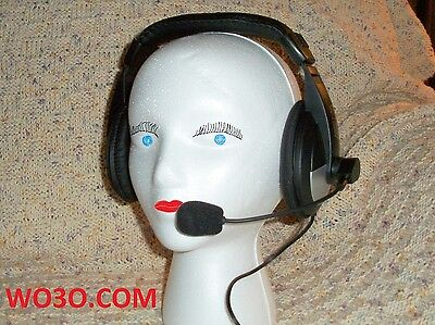 Headset WITH BOOM MIC FOR Elecraft K3 KENWOOD TS 430 440 450 480 950 2000