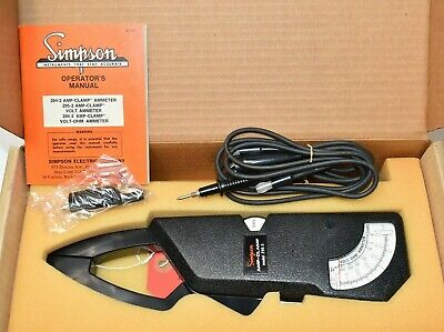 Simpson 296-2 Amp-clamp Voltmeter Ohmmeter Ammeter 296 Cat No. 12219