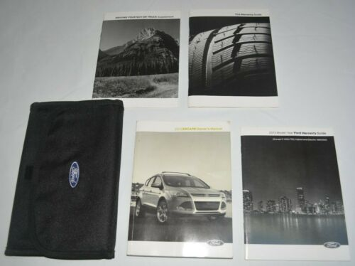 2013 FORD ESCAPE OWNERS MANUAL GUIDE BOOK SET WITH CASE OEM