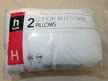*BRAND NEW* 2 Cotton rich cover pillows for sale Glebe Inner Sydney Preview