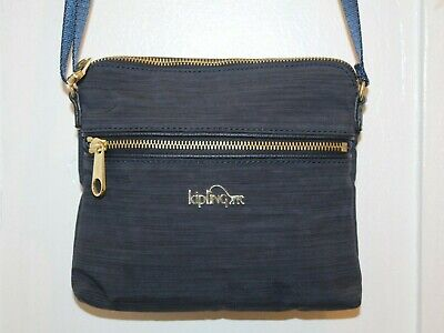 KIPLING Foxwell Crossbody Shoulder Bag Purse True Dazz Navy Blue EUC HB7191
