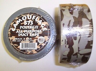 Camouflage Duct Tape 75 Feet All Purpose BROWN - Brown Duct Tape