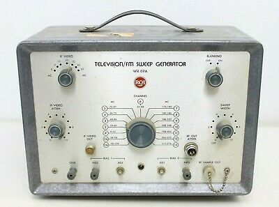 Vintage Rca Fm Sweep Generator Model Wr-69a Testing Tool