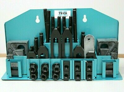 Te-co 52 Pc. Machinist Clamp Kit W 22mm Thick Step Blocks 68004 Brand New