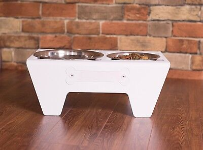 Sips-n-Nibbles PET FOOD AND WATER DRINK DISH MADE IN MICHIGAN CAT DOG TAG PLATE