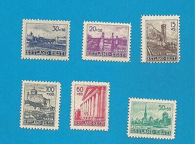 WKII Estland 1941  Nr. 4-9  komplett   **  !!