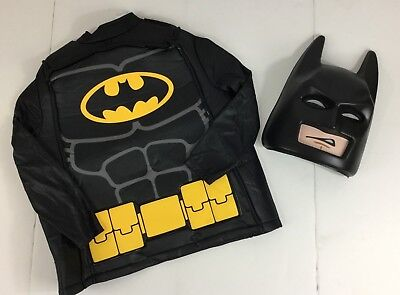 Lego Batman Costume Boys Medium NWOT Tunic Mask Halloween Dress Up DC Comics - Halloween Costume Lego