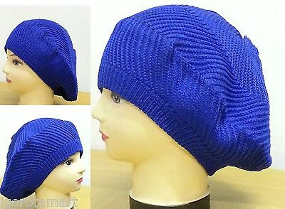 Women Winter Warm Beret Braided Baggy Knit Crochet Beanie Hat Ski Cap