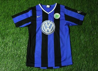WOLFSBURG GERMANY 2007/2009 RARE FOOTBALL SHIRT JERSEY AWAY NIKE ORIGINAL YOUNG image