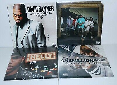 Rap Hip Hop 4 record Lot David Banner Nelly Chamillionaire Terror Squad Sealed - Hip Hop Banners