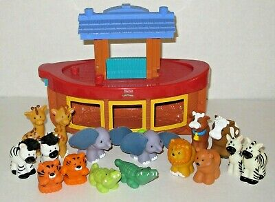 Fisher Price Little People Play set of 16 figures and Noah's Ark