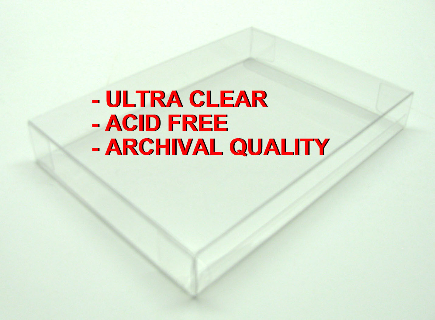 50x BLU-RAY CLEAR PROTECTIVE BOX PROTECTORS - ARCHIVAL QUALITY - FREE SHIPPING!