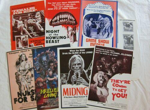 7 Vintage Sexploitation Exploitation Horror Pressbooks 4 Ad Slicks 1970