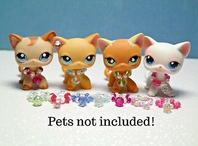 For Littlest Pet Shop Accessories LPS 3pc random collars clothes NO LPS INCLUDED - Childrens Clothes Shops