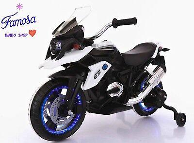 Moto Motocicletta Elettrica MODELLO BMW GS MOTO Flower 12V Potente per bambini