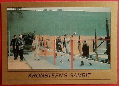 JAMES BOND - From Russia With Love - Card #025 - KRONSTEEN'S GAMBIT - Eclipse