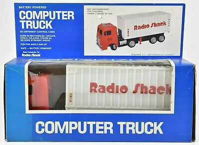 Radio Shack Tandy Computer Truck Semi COE Battery Operated in Original Box