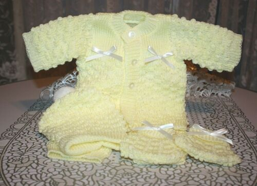 DARLING Knit Baby Doll Outfit For Reborn YELLOW