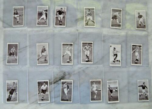 Lot of 18 1938 ASSOCIATION FOOTBALLERS Soccer Cards W A & A C Churchman set 50