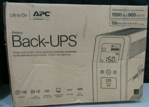 BACK UPS PRO 1500VA SINEWAVE 10 OUTLETS 2 USB CHARGING PORTS