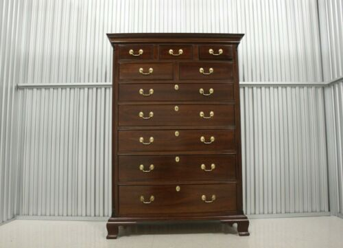 Stickley Chippendale Style 9 Drawer Chest Of Drawers
