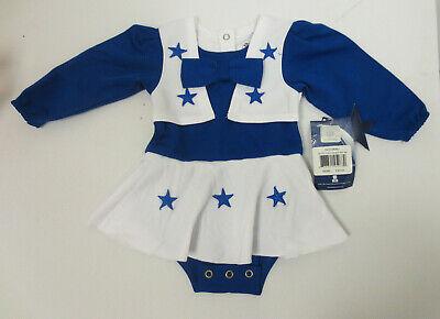 Dallas Cowboy Cheerleading Outfit (DALLAS COWBOYS CHEERLEADER BABY SET GIRLS NFL FOOTBALL CUTE NEW MONTHS)