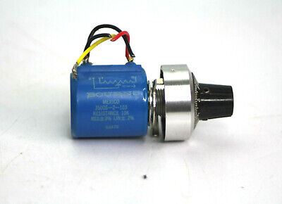Bourns 3500s-2-103 Resistance 10k Rotary Precision Potentiometer Used