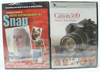 Lot Of 2 Photography Training Dvd Snap Jump Start Guide Canon 50D Vol 1 New