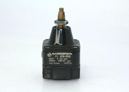 "Norgren 11-818-998 1/4"" Precision Pressure Regulator 8-Bar  Used"