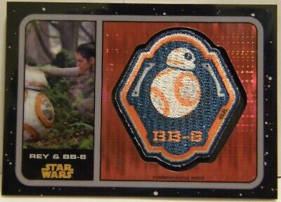 2016 Topps STAR WARS FORCE AWAKENS CHROME PULSAR REFRACTOR PATCH RELIC REY 65/99 - $9.99
