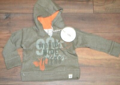 Burts Bees Baby 100% Organic Cotton Hoodie Boys Pullover Sweatshirt Green