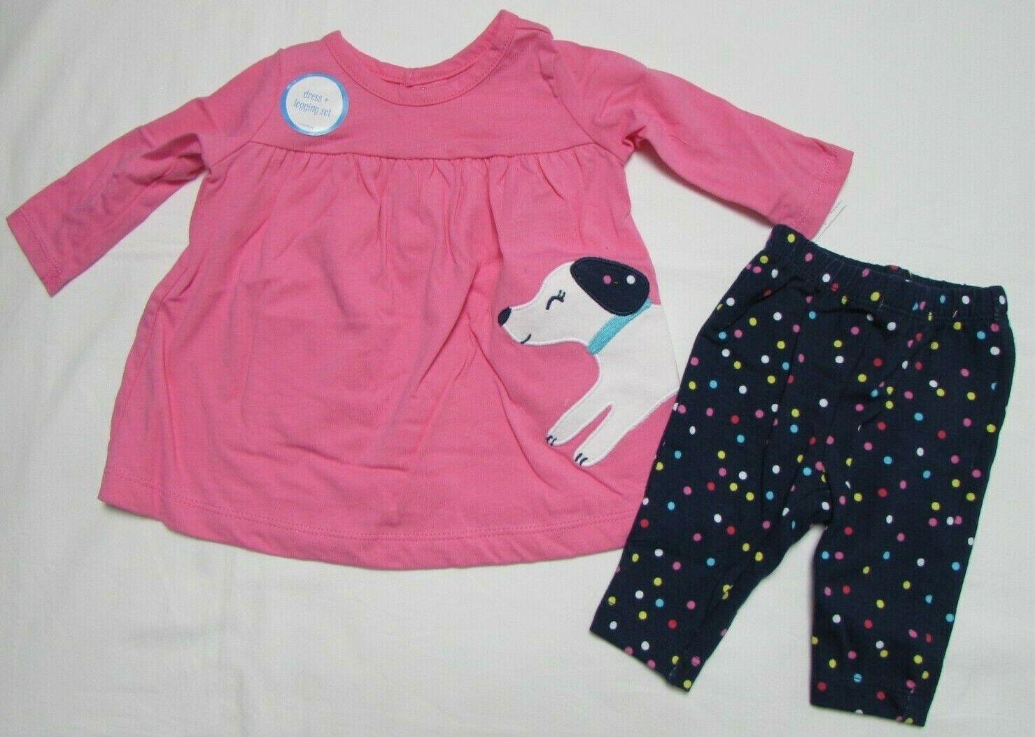 Baby girl clothes,Newborn , Carter's dress legging set  NEW