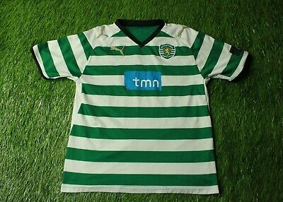 SPORTING LISBON 2008/2009 FOOTBALL SHIRT JERSEY HOME PUMA ORIGINAL SIZE YOUNG L image