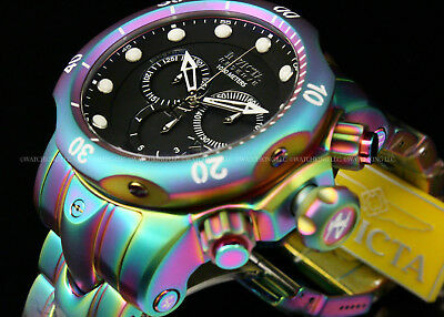 Invicta Reserve 52MM Venom Swiss Ronda Movt Chrono IRIDESCENT S.S Bracelet Watch