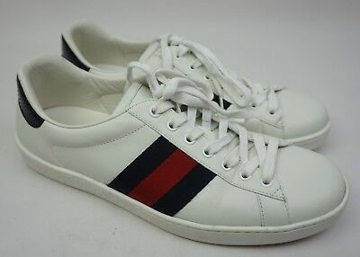 4df81a8fb Gucci Men's White Ace Clean Leather Low Top Sneakers Men's Shoes Size 8 G /  9 US