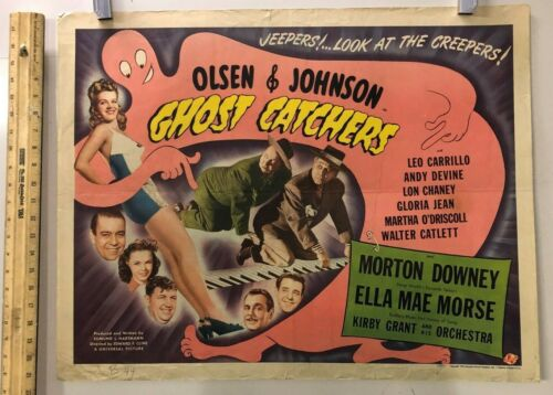 "Ghost Catchers (Universal, 1944). Half Sheet (22"" X 28""). Comedy Poster"