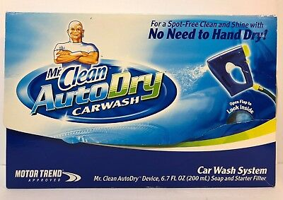 Dry Wash System - Mr. Clean AutoDry Car Wash System Carwash w/Soap & Starter Filter - Auto Dry NEW